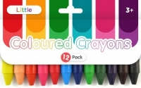 LITTLE COLOURED CRAYONS 12 PC - Click for more info