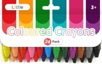 LITTLE COLOURED CRAYONS 24 PC - Click for more info