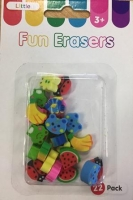 LITTLE FUN ERASERS 22 PC - Click for more info