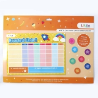 LITTLE WRITE ON/WIPE OFF REWARD CHART & STICKER SET - Click for more info