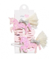 MEE MII WHITE UNICORN HAIR CLIP 4 PACK - Click for more info