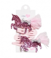 MEE MII PINK UNICORN HAIR CLIP 4 PACK - Click for more info