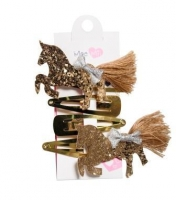 MEE MII GOLD UNICORN HAIR CLIP 4 PACK - Click for more info
