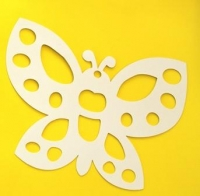 PAPER STAINED GLASS BUTTERLY / FLOWER 10 PC - Click for more info