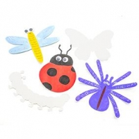 LITTLE PAPER SHAPES BUGS 30 PC ^ - Click for more info