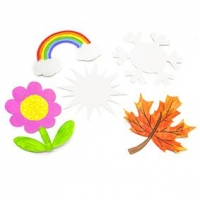 LITTLE PAPER SHAPES WEATHER 30 PC ^ - Click for more info