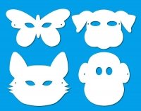 PAPER SHAPES MASKS W/ELASTIC ASSTD 30 PC - Click for more info
