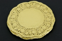 PAPER DOILIES GOLD 180mm 50 PC - Click for more info