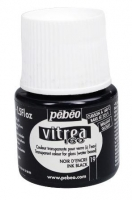 PEBEO VITREA 160 GLOSS INK BLACK 45mL # - Click for more info