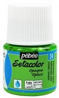 PEBEO SETACOLOR OPAQUE SPRING GREEN 45mL # - Click for more info
