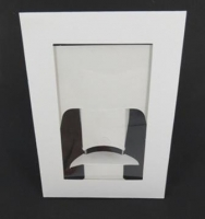 PAPER FRAMES W/WINDOW WHITE 10 PC - Click for more info