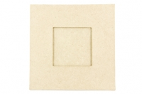 PAPER MACHE FRAME FLAT SQUARE W/SQUARE INSERT 165 X 165MM 1 PC #- - Click for more info