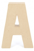 PAPER MACHE LETTER #A 20CM H/S 1 PC # - Click for more info