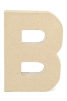 PAPER MACHE LETTER #B 20CM H/S 1 PC # - Click for more info