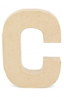 PAPER MACHE LETTER #C 20CM H/S 1 PC # - Click for more info