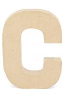PAPER MACHE LETTER #C 20cm H/S 1 PC # - Click for more info