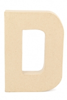 PAPER MACHE LETTER #D 20CM H/S 1 PC # - Click for more info