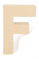 PAPER MACHE LETTER #F 20CM H/S 1 PC # - Click for more info