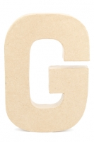 PAPER MACHE LETTER #G 20CM H/S 1 PC # - Click for more info