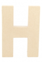 PAPER MACHE LETTER #H 20CM H/S 1 PC # - Click for more info