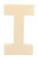 PAPER MACHE LETTER #I 20CM H/S 1 PC # - Click for more info