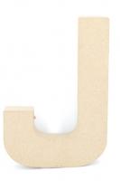 PAPER MACHE LETTER #J 20cm H/S 1 PC # - Click for more info