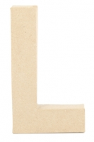 PAPER MACHE LETTER #L 20CM H/S 1 PC # - Click for more info