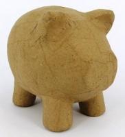 PAPER MACHE PIGGY BANK 1 PC # - Click for more info