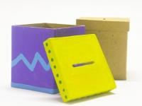 PAPER MACHE MONEY BOX SQUARE 1 PC - Click for more info