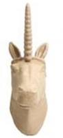 PAPER MACHE UNICORN HEAD 1PC # - Click for more info