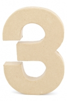 CRAFTSMART PAPER MACHE NUMBER #3 - 20cm 1 PC # - Click for more info