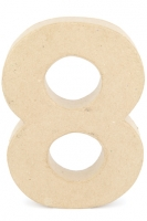 CRAFTSMART PAPER MACHE NUMBER #8 - 20cm 1 PC # - Click for more info