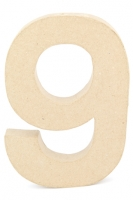 CRAFTSMART PAPER MACHE NUMBER #9 - 20cm 1 PC # - Click for more info