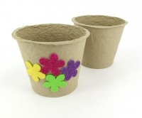 PAPER POT RECYCLED 105MM(H) X 115MM(DIA)  10 PC - Click for more info