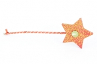 PAPER MACHE WAND (STAR 12CM TOTAL LENGTH 35CM) 1 PC # - Click for more info