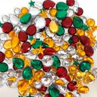 CHRISTMAS RHINESTONES ASSTD 150 GM - Click for more info