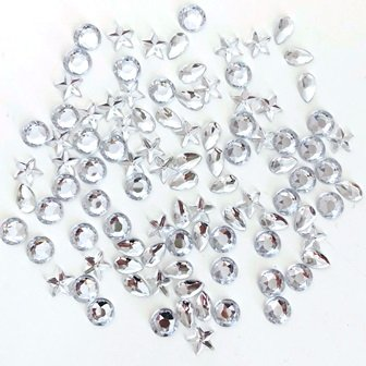 RHINESTONES SILVER ASSTD 100 PC - Click for more info