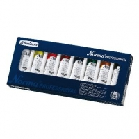 SCH NORMA OIL BASIC COLOURS 8 X 35ML CARDBOARD BOX SET - Click for more info