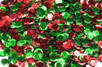 SEQUIN CUP RED/GREEN 50 GM - Click for more info