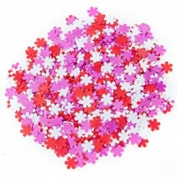 LITTLE SEQUIN FLOWERS PRETTY 50 GM : - Click for more info