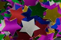 SEQUIN STAR MULTI 25mm 25 GM - Click for more info
