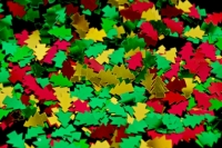 SEQUIN XMAS TREES RED/GREEN/GOLD 50GM - Click for more info
