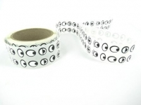 STICKERS PAPER EYE BLACK/WHITE 15MM 2,000 PC - Click for more info