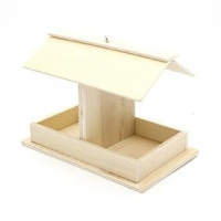 LITTLE WOOD BIRD FEEDER 1 PC - Click for more info