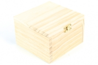 WOODEN BOX W/CATCH SML 130 X 130MM 1 PC # - Click for more info