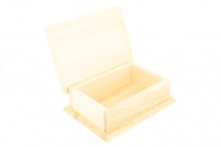 WOODEN BOX GIFT W/HINGES (PINE) 200 X 140 X 60MM 1 PC # - Click for more info