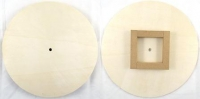 CLOCK BASE PLYWOOD W/HOUSING ROUND # - Click for more info