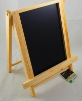 LARGE CHALKBOARD EASEL BLACK/NATURAL 1 PC # - Click for more info