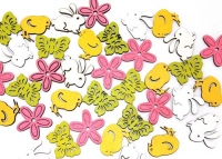 WOOD EASTER/MOTHER'S DAY EMBELLISHMENTS 36 PC - Click for more info
