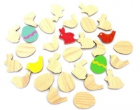 WOOD EMBELLISHMENTS EASTER W/ADH 30 PC - Click for more info